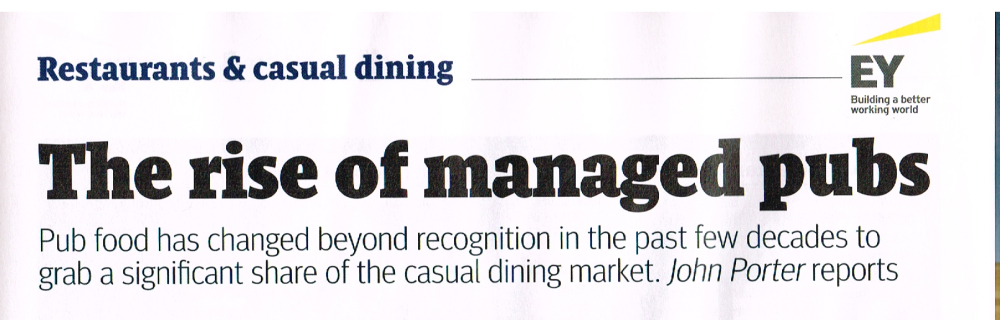 The Caterer, Food in Managed Pubs