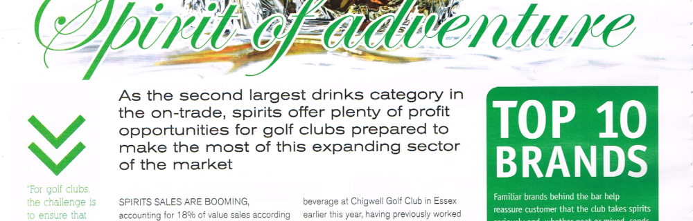 Golf Club Hospitality, Spirits