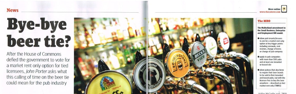 The Caterer: The implications of abolishing the Beer Tie