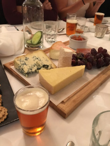 Cheeseboard at the Sierra Nevada beer & food matching