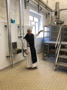 Father Michael Trappist Beer brewer in the brewhouse web